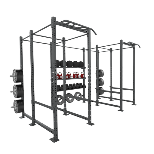 X-Frame Iron Cage - 2 Squat Cells with Storage Hub