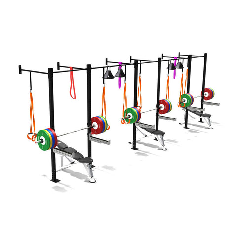 triple squat half cell, squat rack, squat rack mount, olympic squat rack, squat racks, weight rack, gym ri