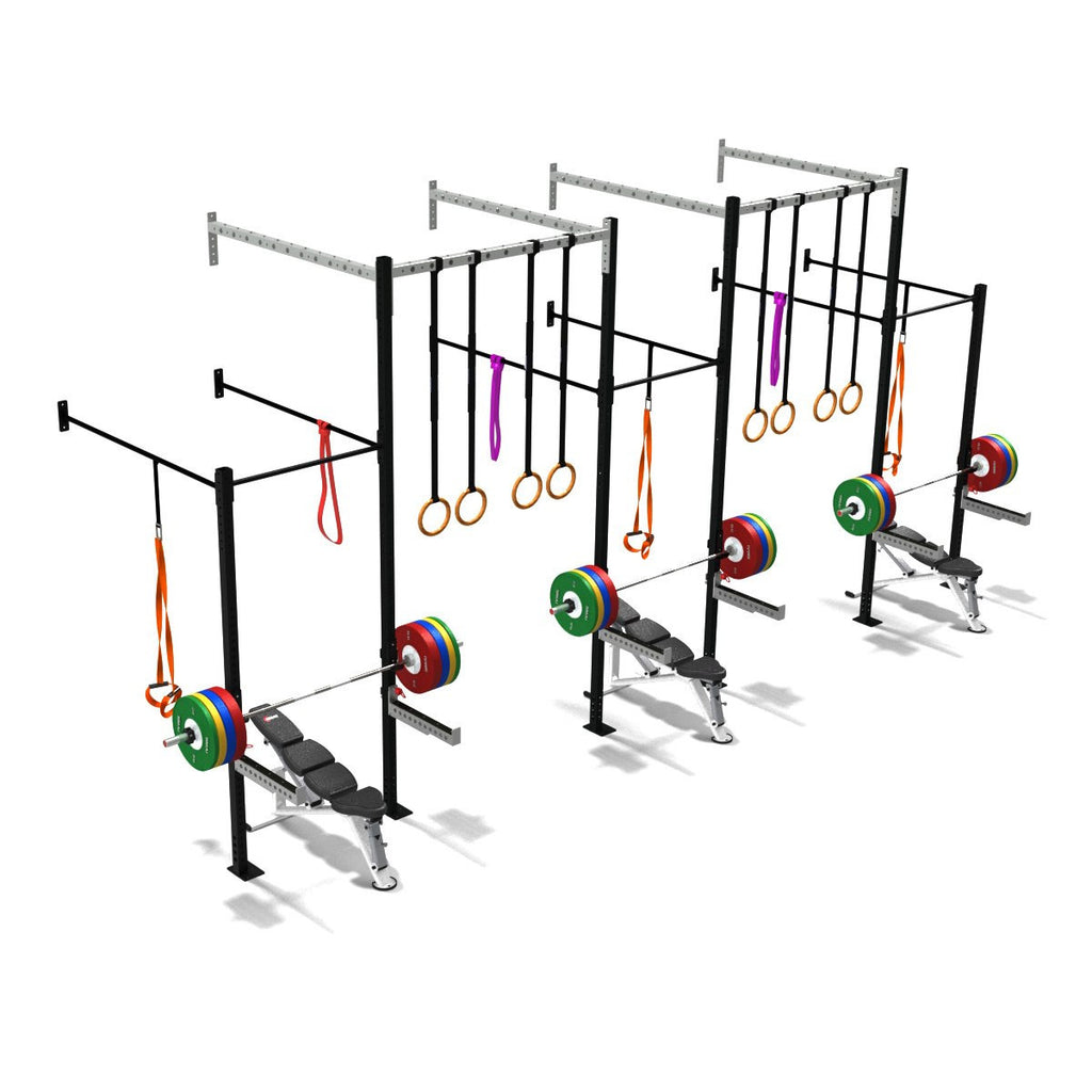 Triple Squat Half Cell With High Overpass, double squat half cell, squat rack, squat rack mount, olympic squat rack, squat racks, weight rack, gym ri