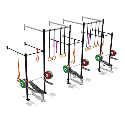 Triple Squat Half Cell With High Overpass, Crossfit Frames, Rigs & Racks