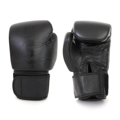 all black boxing glove, boxing glove, punch glove, smai boxing glove