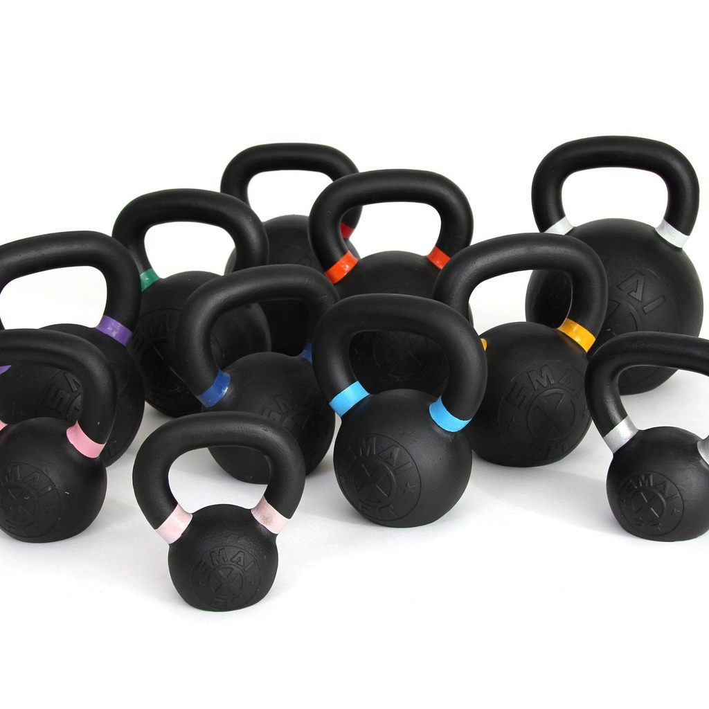 Cast Iron Kettlebell Set 160kg with Storage Rack