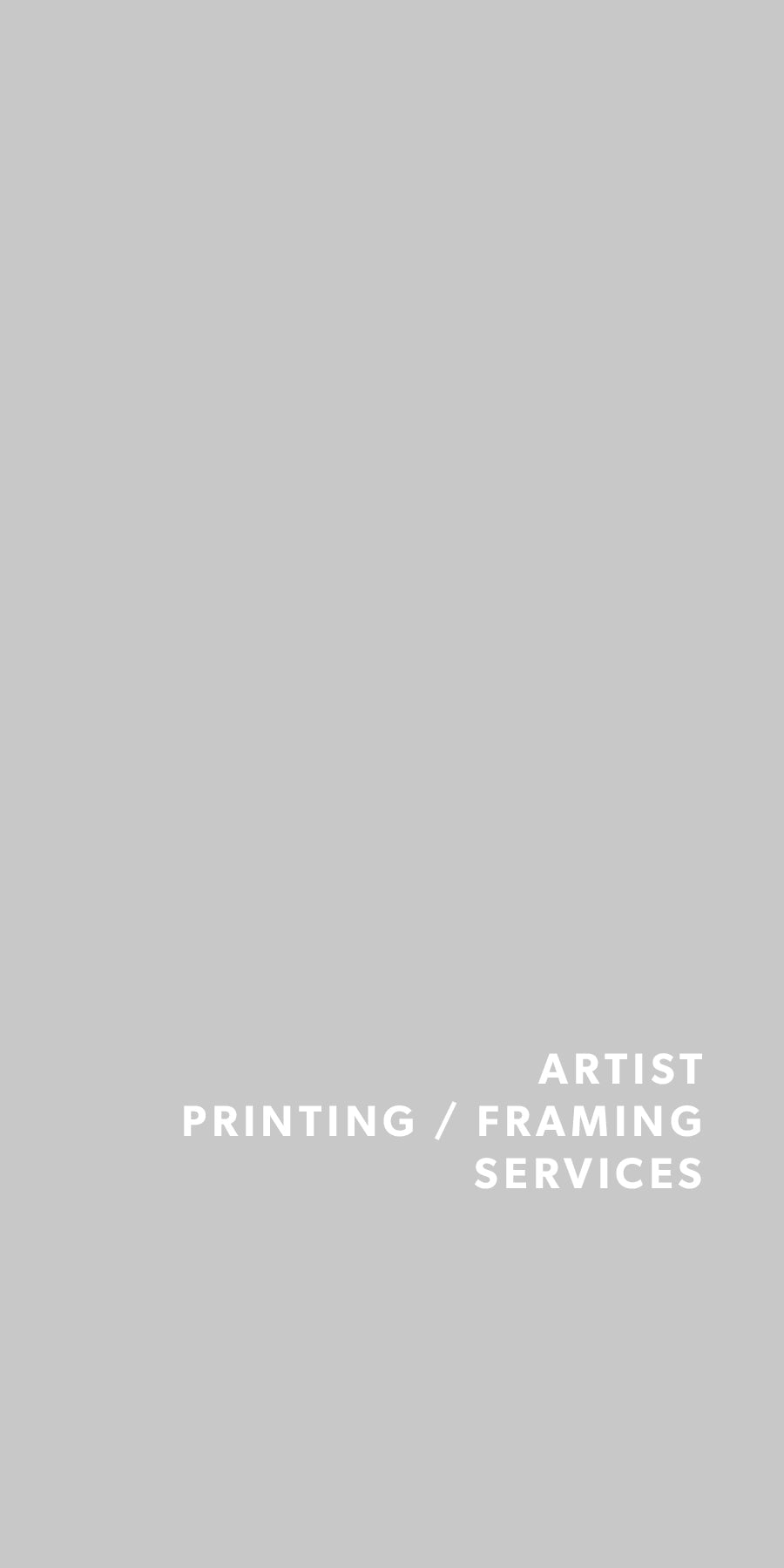 Artist Printing Services