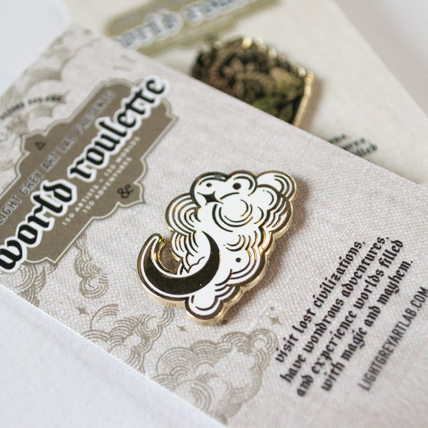 Cloud Design  WORLD ROULETTE ENAMEL PIN