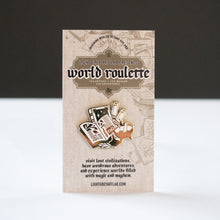 Load image into Gallery viewer, Book Design WORLD ROULETTE ENAMEL PIN