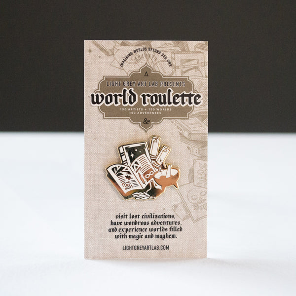 Book Design WORLD ROULETTE ENAMEL PIN