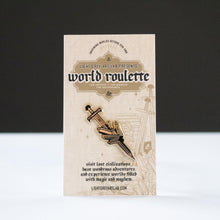 Load image into Gallery viewer, Sword Design WORLD ROULETTE ENAMEL PIN
