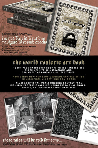 **WORLD ROULETTE ART BOOK PRE-ORDER**