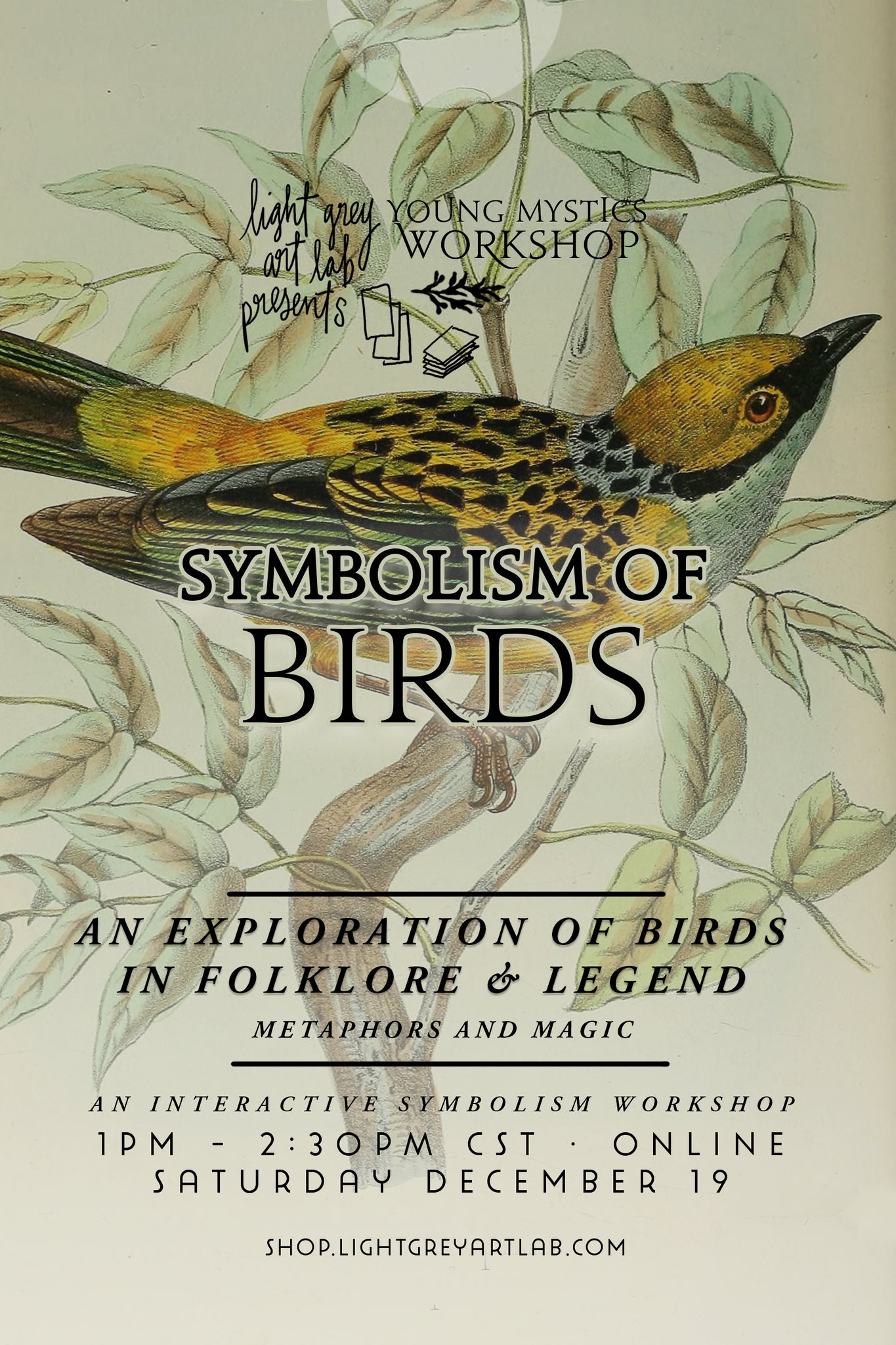 Young Mystics Workshop: The Symbolism of Birds in Folklore & Legend