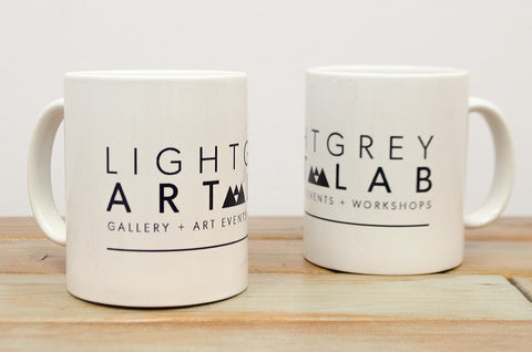 Light Grey Art Lab Mug