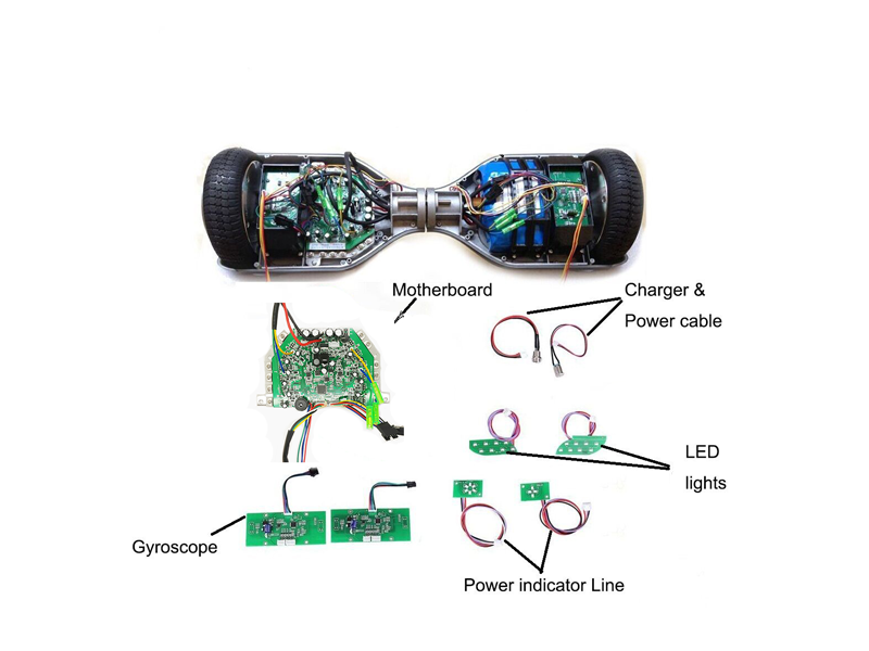 hoverboard repair kit green taotao