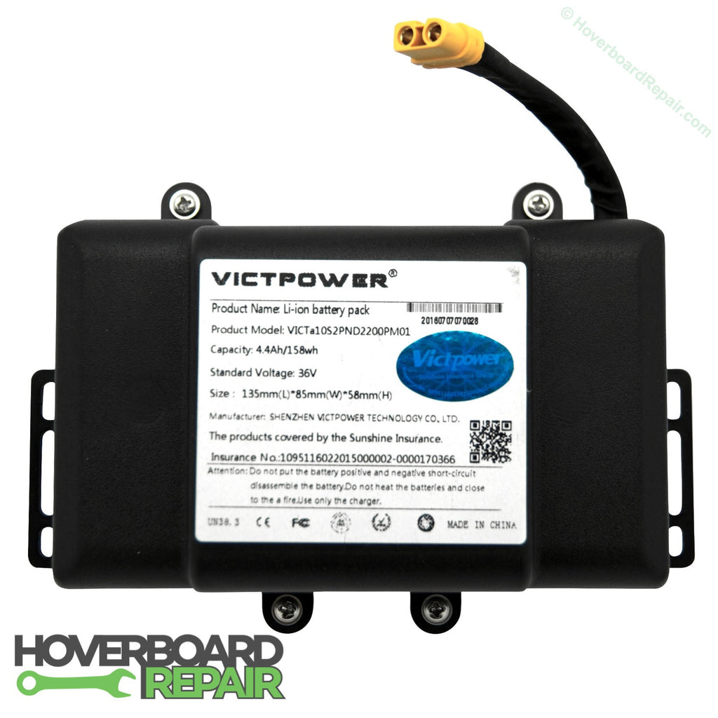 Hoverboard Battery Replacement (Samsung Cells, Black Plastic)