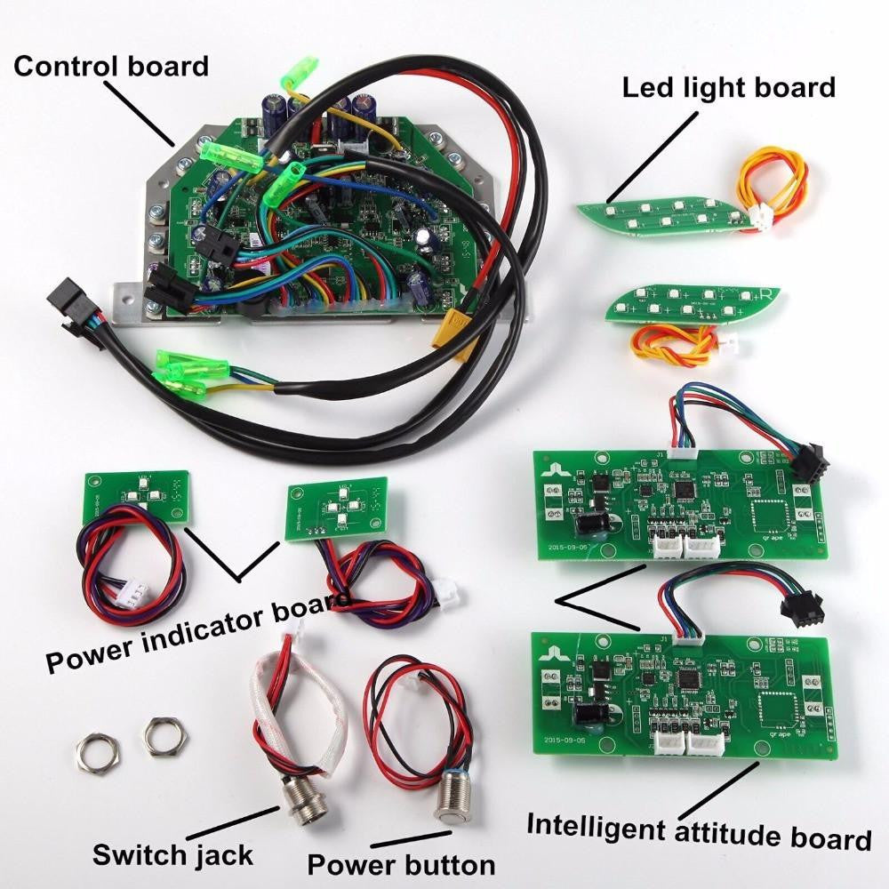 Hoverboard Repair Kit with Bluetooth - Universal, Replaces UL2272 TaoTao Sensors - GREEN CIRCUITS