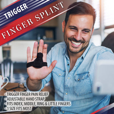 Finger Splint Brace with Palm Strap