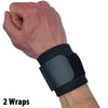 Wrist Wraps for Wrist Support – Wrist Compression for Tendonitis (2 Wraps)