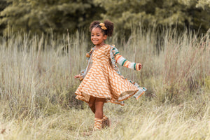 Shortie Dress (Big Kid) | Fall Prints