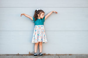 Twirl Dress (Big Kid) | Fall Florals