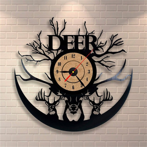 Home Decor - Deer Vinyl Record Clock