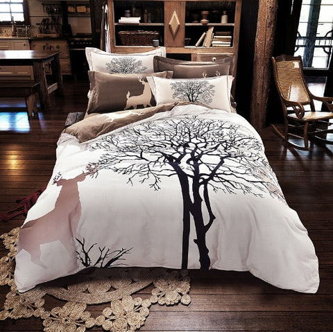 Tree Deer Duvet Set