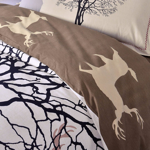 Home Decor - Tree Deer Duvet Set