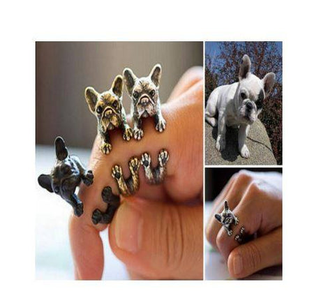 2016 New French Bulldog Adjustable Wrap Rings