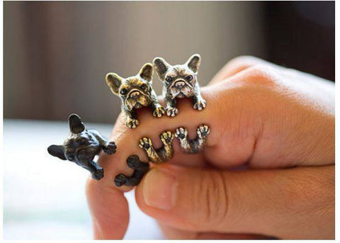 Jewelry - 2016 New French Bulldog Adjustable Wrap Rings