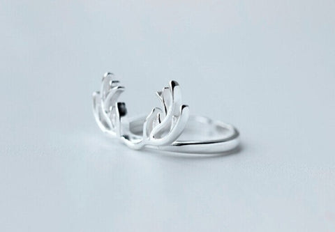 Jewelry - 925 Sterling Silver Deer Antlers Ring