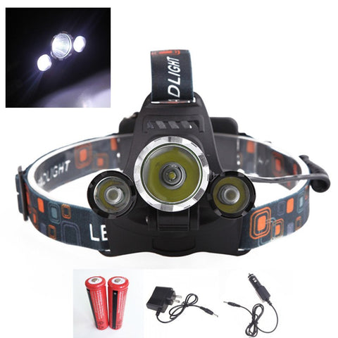 3 PACK: ULTRA Bright LED Rechargeable Headlamp