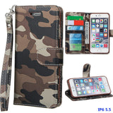 Image of 6S/6Plus Army Camouflage Flip Stand Magnetic Leather Wallet Case
