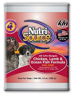 Nutri Source Chicken, Lamb & Ocean Fish Formula 12/13oz