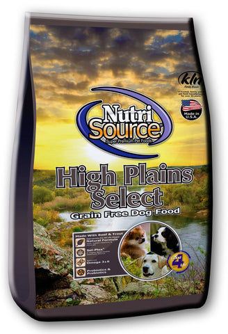 Nutri Source High Plains Select Grain Free 15lb.