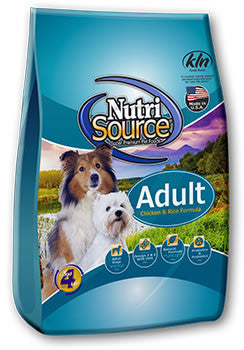 Nutri Source Adult Chicken & Rice Formula 6.6 lb.