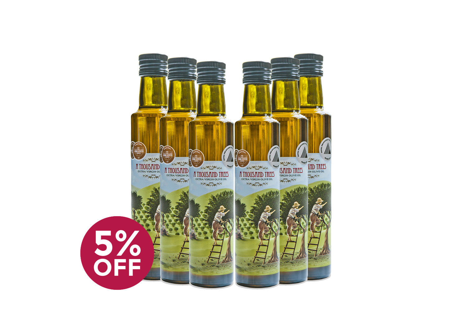 250ML Extra Virgin Olive Oil Six Pack
