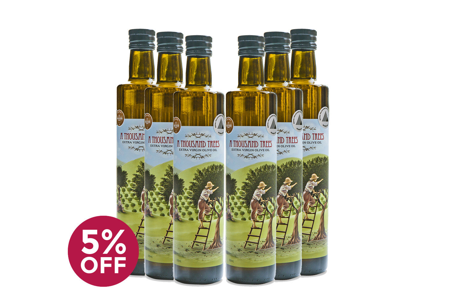 500ML Extra Virgin Olive Oil Six Pack