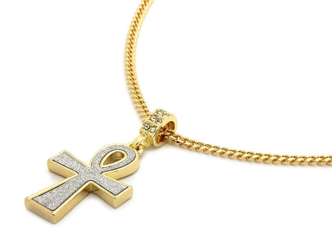 196 - 14k Gold Plated Egyptian Ankh Necklace
