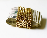 "Best Selling 24"" Cuban Link Chain Necklace 14K Gold Plated"