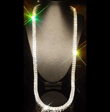14k Yellow Gold Chain - 1 & 2 ROW Clear CZ