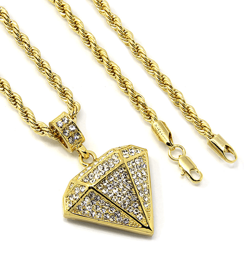 14K Plated Gold Diamond Chain