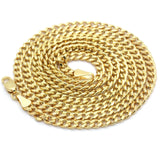 "Google_product_category - 14k Gold Plated Pharaoh Pendant + 30"" Cuban Chain"