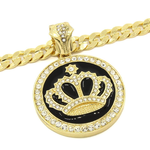 Google_product_category - 14k Gold Plated Royal Crown Necklace