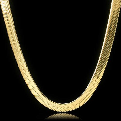 Google_product_category - 24 Inch Herringbone Chain - 18K Yellow Gold