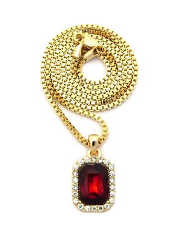 Google_product_category - Gold Square Ruby Chain