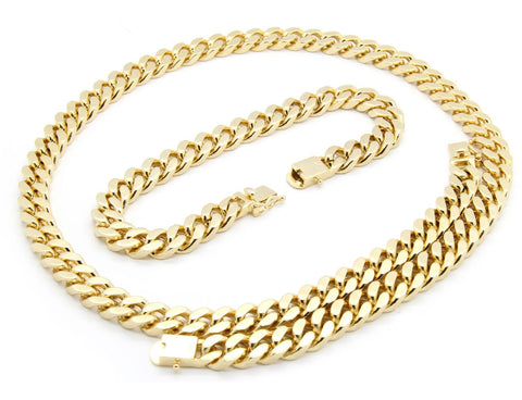 Google_product_category - Heavy Cuban Link Set (Necklace & Bracelet)