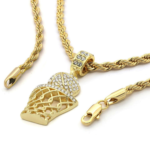 18K Gold Plated Basketball Chain