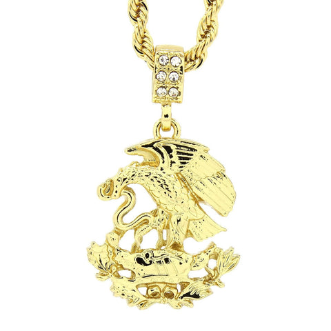 14K Gold Plated Mexican Pride Pendant