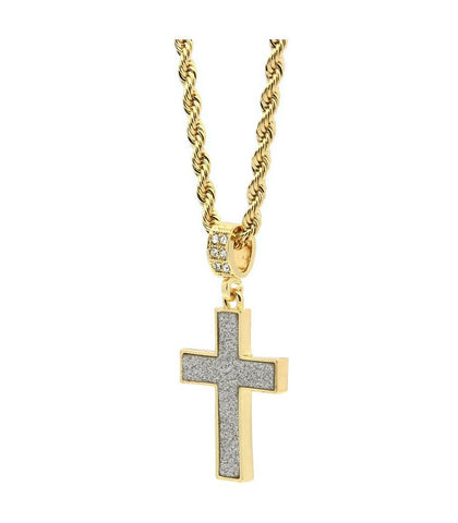 Stardust 14K Plated Gold Cross Necklace | Best Seller