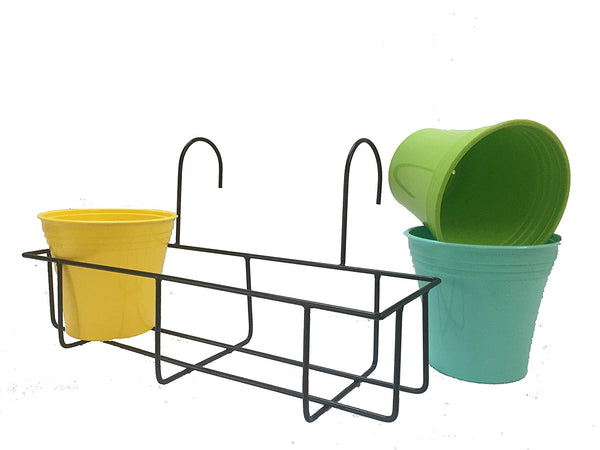 Balcony Railing Planter Cum Grill Mountable Flower Pot