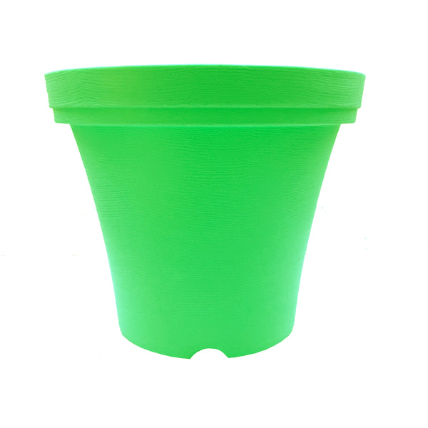 "Set of 3 planters 10.5"" leaf green"