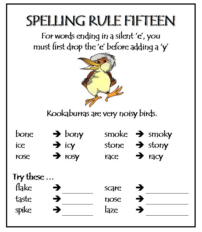 Spelling Rules Part 2