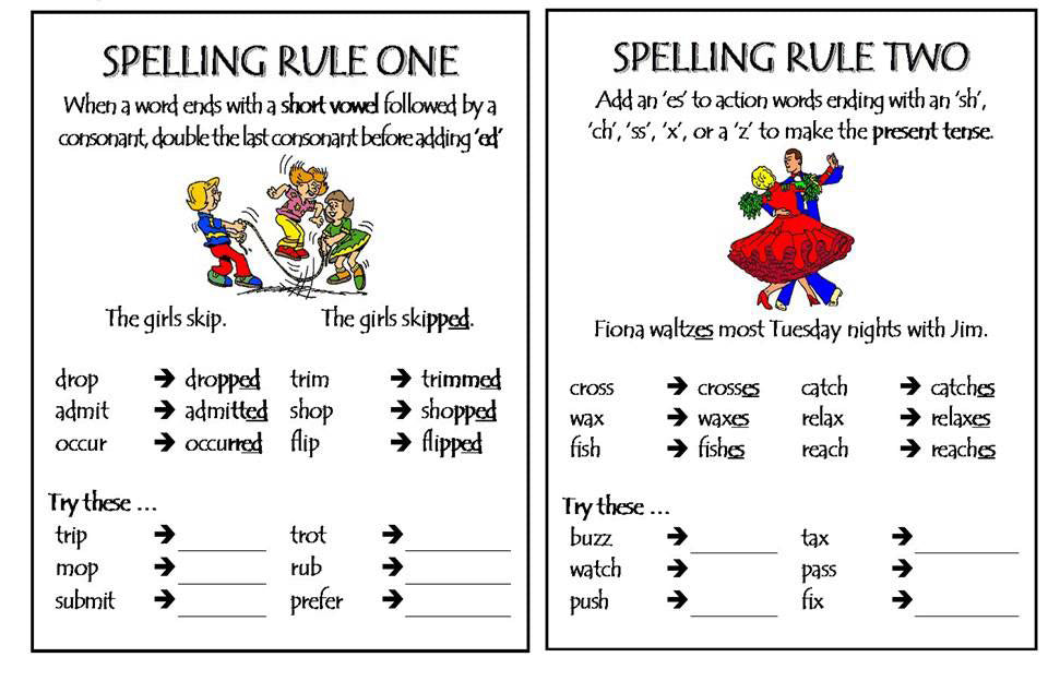Spelling Rules Part 1